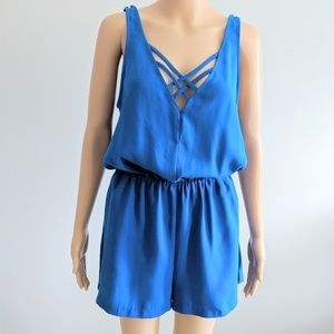 Silence and Noise Urban outfitters blue romper